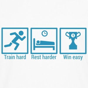 Train hard Rest Harder Shirt - Männer Premium Langarmshirt