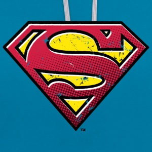 Superman Pop Men T-Shirt - Kontrast-hettegenser