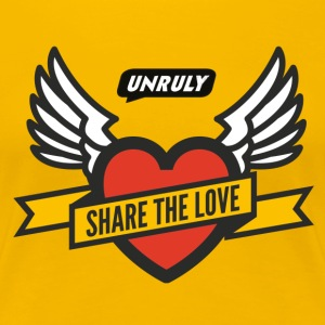 Unruly Share The Love T-Shirts - Women's Premium T-Shirt