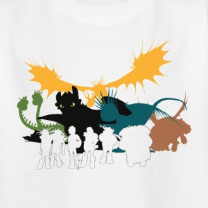 Dragons Vintage Group Teenager T-Shirt - Teenage T-shirt
