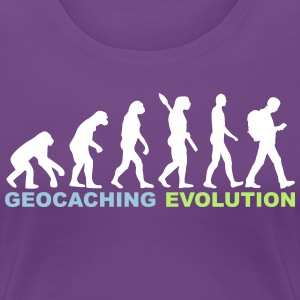 Geocaching Evolution - Frauen Premium T-Shirt