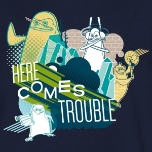 Penguins of Madagascar Here comes trouble Men's T- - Men's Organic V-Neck T-Shirt by Stanley & Stella