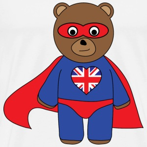 Super Brit Bear - Men's Premium T-Shirt