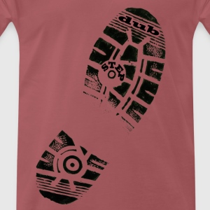 Dub Step Footprint - Men's Premium T-Shirt