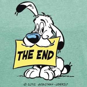 Asterix & Obelix - Idefix 'The End' Women's T-Shir - Dame T-shirt med rulleærmer