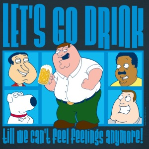 Family Guy Peter Griffin Let's Go Drink Women T-Sh - Vrouwen T-shirt