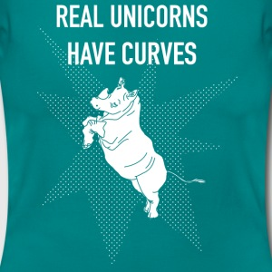 Real Unicorns have Curves! - Frauen T-Shirt