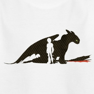 DreamWorks Dragons Hicks & Ohnezahn Silhouette Kin - Kinder T-Shirt