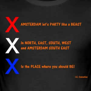 AMSTERDAM let's Party like a BEAST - slim fit T-shirt
