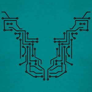 lines design circuitry technology lines microchip  T-Shirts - Men's T-Shirt