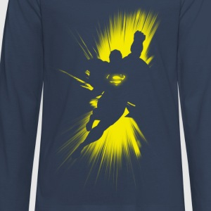 Superman Shadow Teenager Longsleeve - Premium langermet T-skjorte for tenåringer