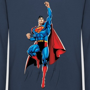 Superman Up and Away Kids Longsleeve - Børne premium T-shirt med lange ærmer