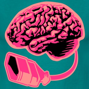 Connecting thinking brain power plug electronicall T-Shirts - Men's T-Shirt