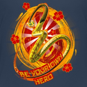 Kung Fu Panda 3 Viper Be Your Own Hero Teenager T- - Teenage Premium T-Shirt