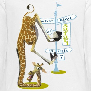 Madagascar Melman What kind of safari Tee shirt ma - T-shirt manches longues Premium Ado