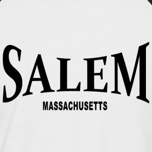 Salem Massachusetts – schwarz - Männer Baseball-T-Shirt