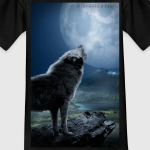 Howling Wolf Teenager T-Shirt - Teenager T-Shirt