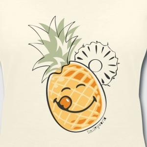 SmileyWorld 'Juicy Pineapple' women t-shirt - Women's Organic V-Neck T-Shirt by Stanley & Stella