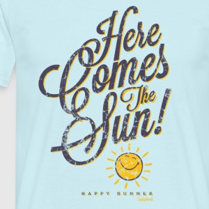 SmileyWorld 'Here comes the sun' men t-shirt - T-skjorte for menn