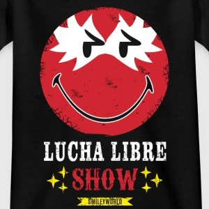 SmileyWorld Lucha Libre Show Rot - Kinder T-Shirt