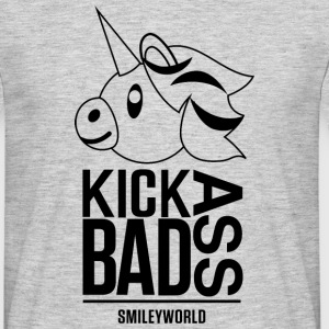 SmileyWorld Licorne Kick Bad Ass - T-shirt Homme