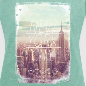 Smileyworld 'New York City' - Camiseta con manga enrollada mujer