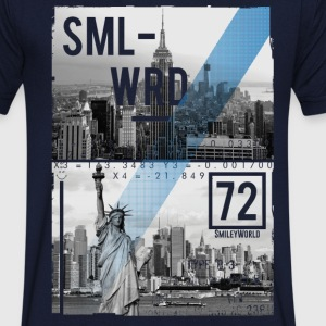 Smileyworld 'New York Statue of Liberty' - Men's Organic V-Neck T-Shirt by Stanley & Stella