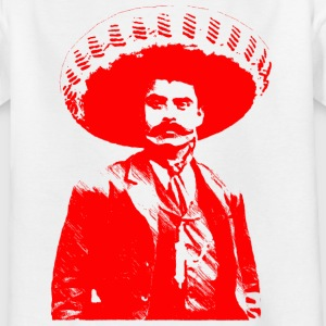 Emiliano Zapata - roter einfarbiger Druck - Teenager T-Shirt