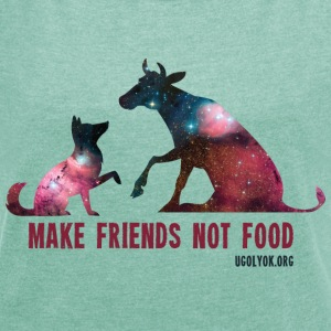 Make Friends Not Food #1 - T-shirt Femme à manches retroussées