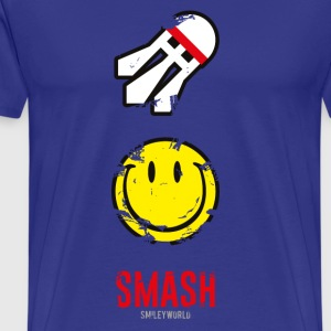 SmileyWorld SMASH that shuttlecock - Men's Premium T-Shirt