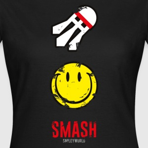 SmileyWorld SMASH that shuttlecock - Women's T-Shirt