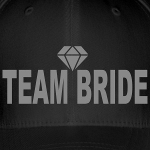 Team Bride Single Diamond Caps & Mützen - Flexfit Baseballkappe