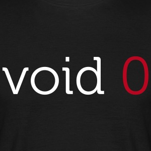 Coders Choice: void 0 Basic Shirt - Männer T-Shirt