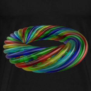 Colourful Multicolour Glass Rope - Men's Premium T-Shirt