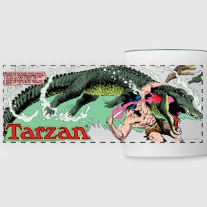 Tarzan fighting with a crocodil - Tazza con vista