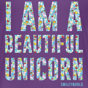 SmileyWorld I am a Beautiful Unicorn - Kids' Premium T-Shirt
