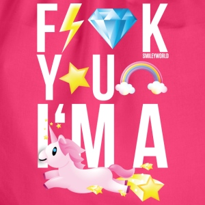 SmileyWorld F**K YOU I'M A UNICORN - Turnbeutel
