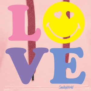 SmileyWorld LOVE - Bluza damska Premium z kapturem