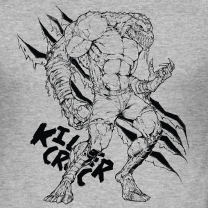 Suicide Squad Killer Croc Line Art - Männer Slim Fit T-Shirt