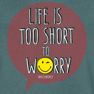 SmileyWorld Life is too short to Worry - Men's Organic V-Neck T-Shirt by Stanley & Stella