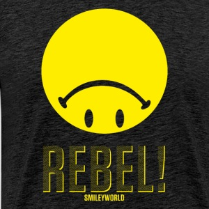 SmileyWorld Rebel Rebellischer Smiley - Männer Premium T-Shirt
