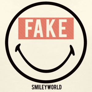 SmileyWorld Sourire Forcé Fake - T-shirt col V Femme