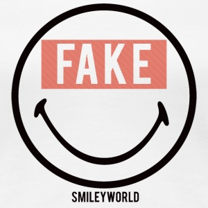 SmileyWorld Sourire Forcé Fake - T-shirt Premium Femme