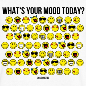 SmileyWorld What's Your Mood Today? - Men's Organic V-Neck T-Shirt by Stanley & Stella