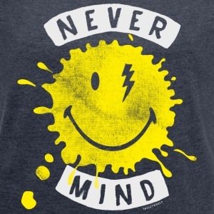 SmileyWorld Never Mind Splash Smiley - Women's T-shirt with rolled up sleeves