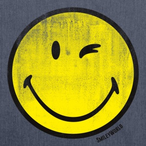 SmileyWorld Classic Wink Smiley - Bandolera de material reciclado