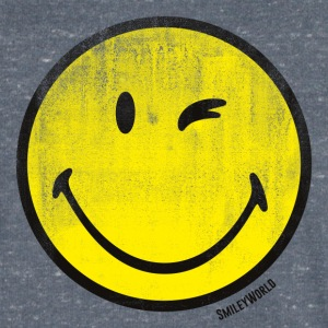 SmileyWorld Classic Wink Smiley - Herre T-shirt med V-udskæring