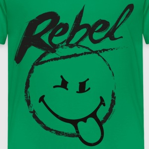 SmileyWorld Rebel Smiley - Børne premium T-shirt