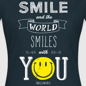 SmileyWorld Smile and the world smiles with you - Women's T-Shirt