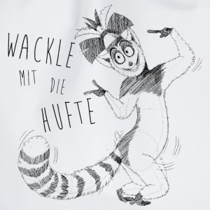 King Julien 'Wackle mit die Hufte' - Turnbeutel